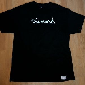 Diamond Supply Co Black Script Graphic T-shirt